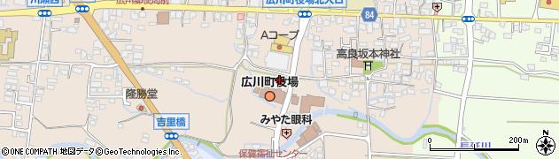 福岡県広川町(八女郡)周辺の地図