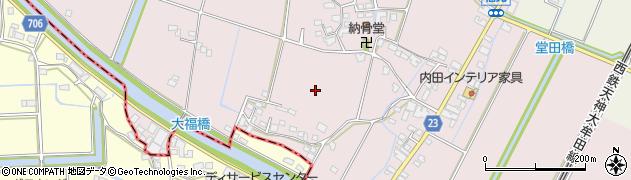 福岡県久留米市三潴町福光周辺の地図