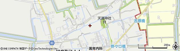 福岡県久留米市城島町江上上周辺の地図