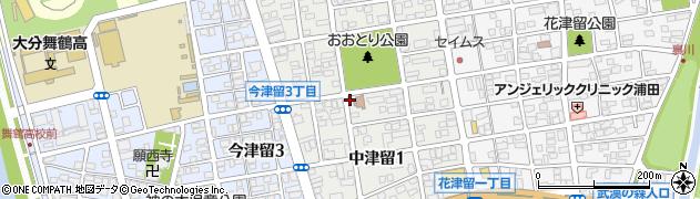 津留天満周辺の地図