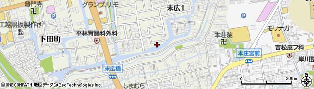 佐賀県佐賀市末広周辺の地図