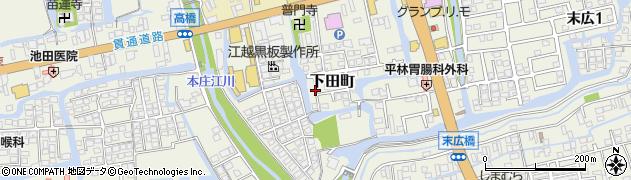 佐賀県佐賀市下田町周辺の地図