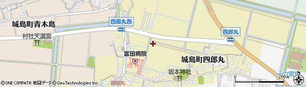 福岡県久留米市城島町四郎丸周辺の地図