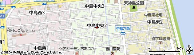大分県大分市中島中央周辺の地図