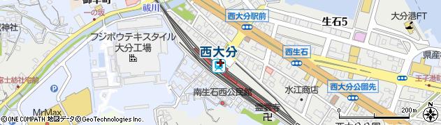 大分県大分市周辺の地図