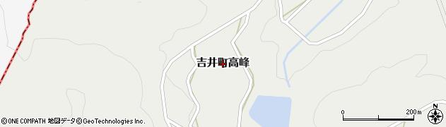 長崎県佐世保市吉井町高峰周辺の地図