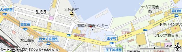 大分県大分市王子港町周辺の地図