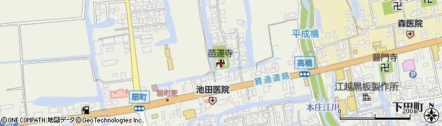 苗運寺周辺の地図