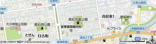 大分県大分市高松周辺の地図