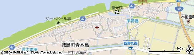 福岡県久留米市城島町青木島周辺の地図