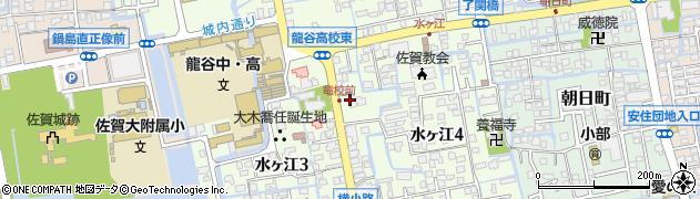 佐賀県佐賀市水ヶ江周辺の地図