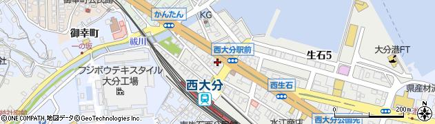 大分県大分市生石(浜の市)周辺の地図