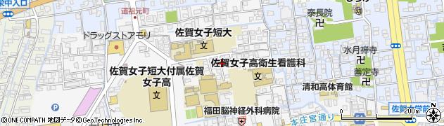 佐賀県佐賀市本庄町(本庄)周辺の地図