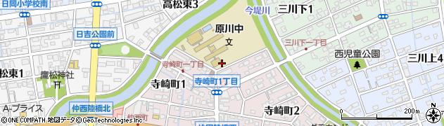 大分県大分市寺崎町周辺の地図