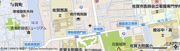 佐賀県佐賀市城内周辺の地図