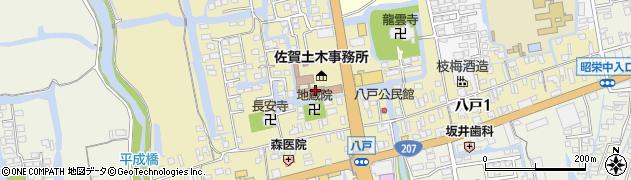 佐賀県佐賀市八戸周辺の地図