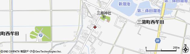 福岡県久留米市三潴町西牟田周辺の地図