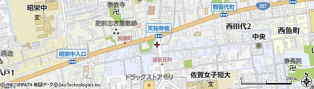 佐賀県佐賀市西田代町周辺の地図