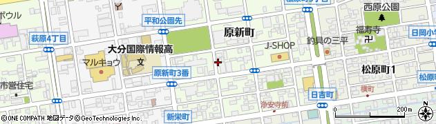 大分県大分市原新町周辺の地図