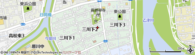 大分県大分市三川下周辺の地図