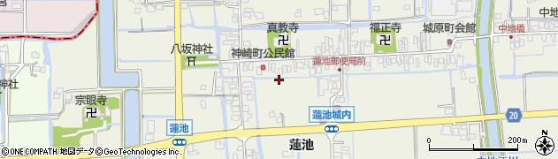 佐賀県佐賀市蓮池町(蓮池)周辺の地図