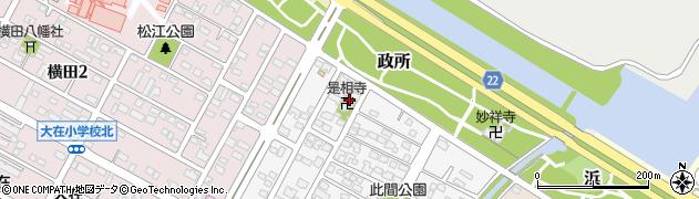 是相寺周辺の地図
