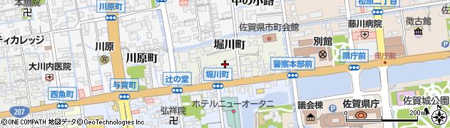 佐賀県佐賀市堀川町周辺の地図