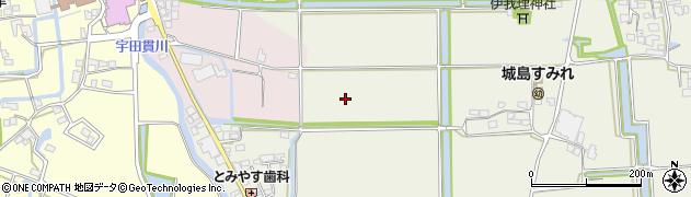 福岡県久留米市城島町六町原周辺の地図