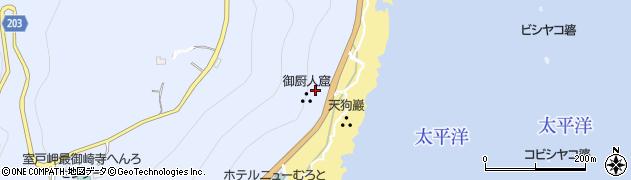 御蔵洞周辺の地図