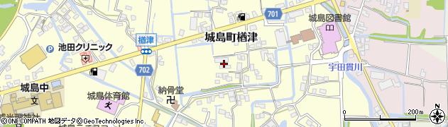 福岡県久留米市城島町楢津周辺の地図