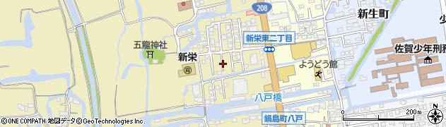 佐賀県佐賀市新栄西周辺の地図