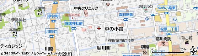 佐賀県佐賀市中の小路周辺の地図