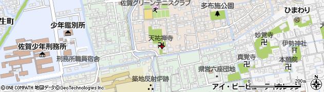 天祐寺周辺の地図