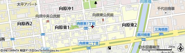 大分県大分市向原東周辺の地図