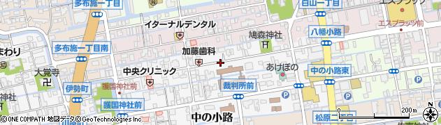 佐賀県佐賀市八幡小路周辺の地図