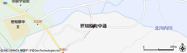 長崎県佐世保市世知原町中通周辺の地図