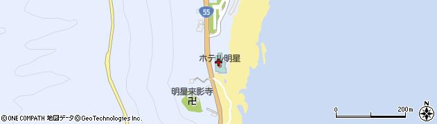 ホテル/レストラン明星周辺の地図