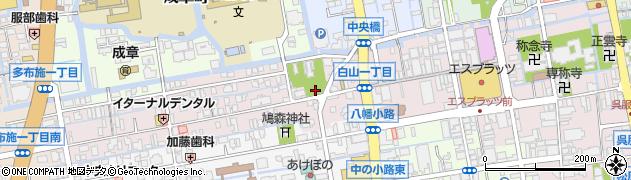 佐賀県佐賀市白山周辺の地図