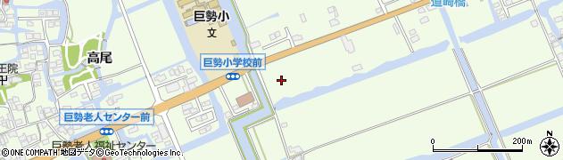 佐賀県佐賀市巨勢町周辺の地図
