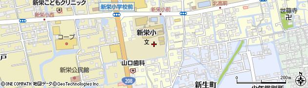 佐賀県佐賀市新栄東周辺の地図