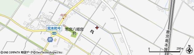 福岡県久留米市荒木町(今)周辺の地図