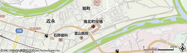 愛媛県北宇和郡鬼北町周辺の地図