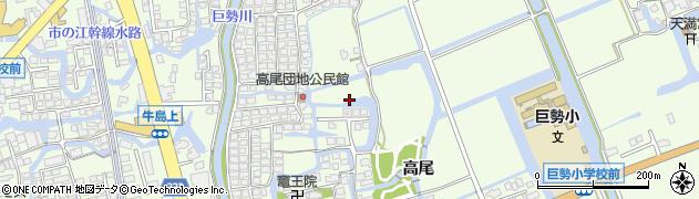 佐賀県佐賀市巨勢町(高尾)周辺の地図
