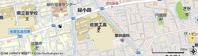 佐賀県佐賀市緑小路周辺の地図
