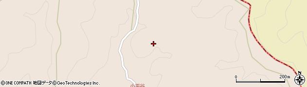 大分県玖珠郡九重町野上小平谷周辺の地図