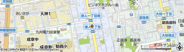 佐賀県佐賀市唐人周辺の地図