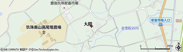 大分県玖珠郡玖珠町大隈1591周辺の地図