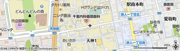佐賀県佐賀市天神周辺の地図