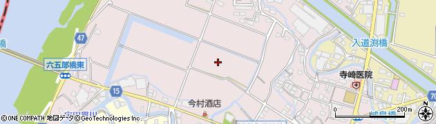 福岡県久留米市城島町城島周辺の地図