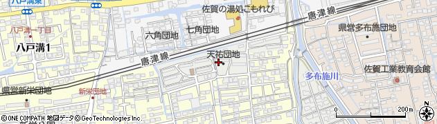 佐賀県佐賀市天祐団地周辺の地図